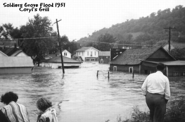1951 flood: Cory's Grill