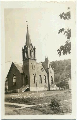 1910: Norwegian Church RPPC